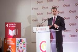 Pleno Extraordinario de la Cámara de Comercio de España presidido por El Rey Felipe VI